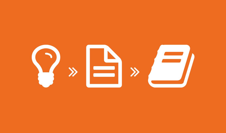 Idea -> content -> book