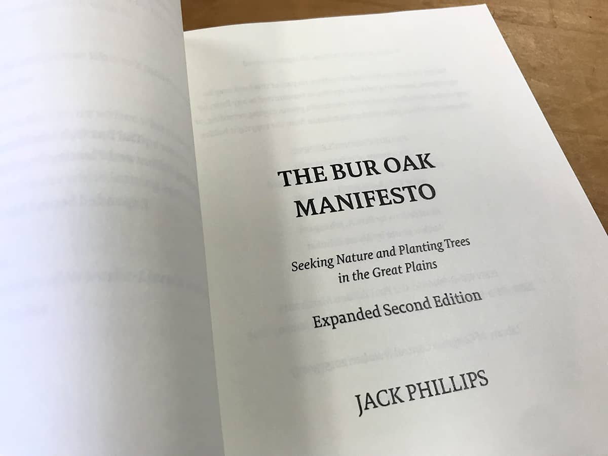 Bur Oak Manifesto book pages