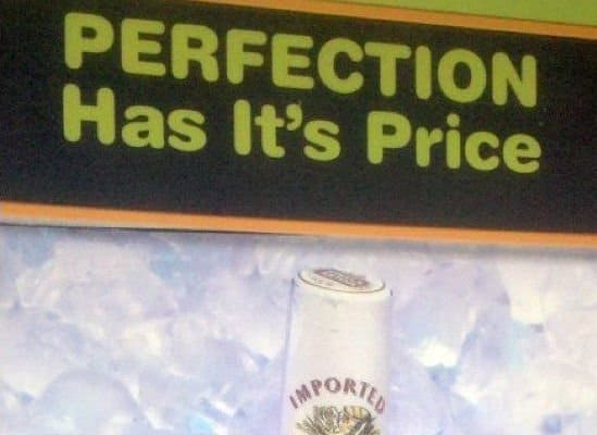 Stella Artois poster with editing error