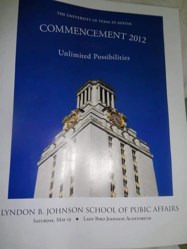 LBJ School program with editing error